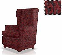 JM Textil Elastische Husse für Ohrensessel Rom Größe 1 Sitzer (Standard), Farbe 08