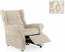 JM Textil Elastische Sessel-Husse relax Rom Größe 1 Sitzer (Standard), Farbe 00