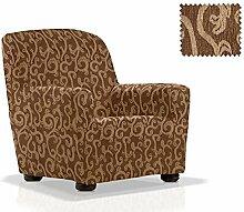 JM Textil Elastische Sessel-Husse Rom Größe 1 Sitzer (von 70cm bis 110cm) Farbe 07