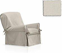 JM Textil Sessel-Husse mit Schleifen Akeita Größe 1 Sitzer (von 80cm bis 120cm), Einzelfarbe
