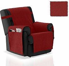 JM Textil Sesselschoner Gea Größe 1 Sitzer (55 cm), Farbe Ro