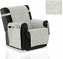 JM Textil Sesselschoner Leona Größe 1 Sitzer (55 cm), Farbe Grau