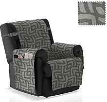 JM Textil Sesselschoner Pema Größe 1 Sitzer (55 cm), Farbe Grau