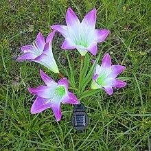 JMM LED Lilien Bodenleuchte, Solar Garten