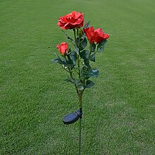 JMM LED Rosen Bodenleuchte, Solar Garten