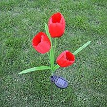 JMM LED Tulpe Bodenleuchte, Solar Garten