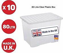 JMS® 10x 80Liter Aufbewahrungsbox aus