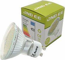JnDee LED-Lampe, GU10, 3 W, GU10, 60SMD, kühles Weiß