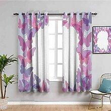 JNWVU Blickdicht Vorhang für Schlafzimmer -
