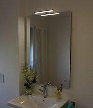 Joana Led Leuchtspiegel Beleuchteter Badspiegel Mit Steilfacette 100x60cm und 1 Lampe in 5mm Stärke