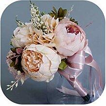 JobFine Braut Hochzeit Bouquets Pink Champagne