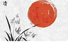 JOCHUAN Chinese Art Orchid Ink Painting 30x18 Zoll