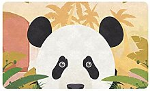 JOCHUAN Chinese Panda Eating Bamboo 30x18 Zoll
