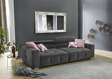 Jockenhöfer Gruppe Big-Sofa, mit Wellenfederung