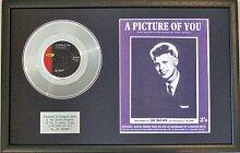 Joe Brown–Platinum Disc & Lied Tafeltuch ein Bild der Sie