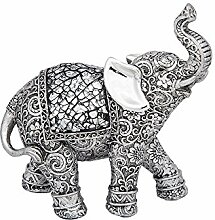 Joe Davies Silber Geätzt Skulptur Elefant, groß