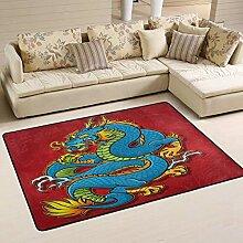 Joe-shop Chinese Dragon Artwork Area Teppich