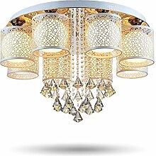 Joeyhome runde LED-Kristalldeckenleuchte für