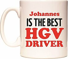 Johannes IS THE BEST HGV DRIVER Becher von WeDoMugs