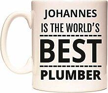 JOHANNES IS THE WORLD'S BEST PLUMBER Becher
