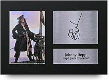 Johnny Depp Signiert A4Gedruckt Autogramm, Piraten der Karibik Print Foto Bild Display–tolle Geschenkidee