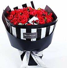 JohnnyLuLu Seifen-Rosen-Blumenstrauß, duftende