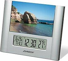 Johnson Wecker Uhr digital mit Bilderrahmen