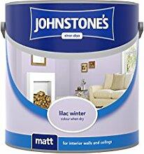 Johnstone 's 308637matt Emulsionsfarbe Dispersionsfarbe, lila Winter, 2,5Liter