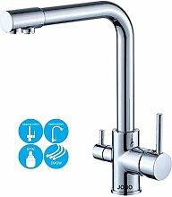 JOHO 3 Wege Küchenarmatur Trinkwasser Wasserhahn