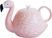 JointVictory Teekanne im Flamingo-Stil,