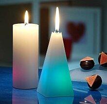 JOKA Candles LED Regenbogen Kerze Pyramide, 11037,