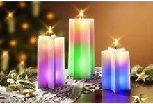JOKA international LED-Kerze Regenbogenkerzen