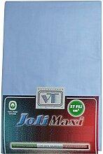 Joli Bettlaken 100% Baumwolle Doppelbett cm 240x 300weiß Made in Italy 57Fäden pro cm² hellblau