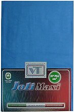 Joli Bettlaken 100% Baumwolle Doppelbett cm 270x 300–21Farben–Made in Italy 57Fäden pro cm² Avio