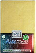 Joli Bettlaken 100% Baumwolle Doppelbett cm 270x 300–21Farben–Made in Italy 57Fäden pro cm² gelb
