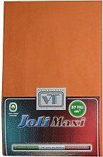 Joli Bettlaken 100% Baumwolle Doppelbett cm 270x 300–21Farben–Made in Italy 57Fäden pro cm² ARANCIO
