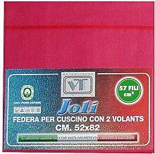 Joli Paar Kissenbezüge mit 3Knöpfen 100% Baumwolle Größe cm 50x 80–21Farben–Made in Italy 57Fäden pro cm² Veilchenblau
