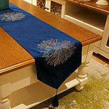 Joliann Tischläufer Strass Feuerwerk blau Gold