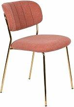 Jolien-Stuhl gold und rosa