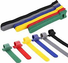 Jolintek Klett Kabelbinder, 90 Stück Kabelbinder
