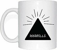 JOllify ANNABELLE Kaffeetasse Tasse Becher Mug M5143 - Farbe: weiss - Design 11: Hipper Hipster