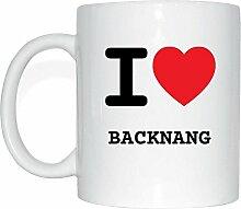 JOllify BACKNANG Kaffeetasse Tasse Becher Mug M1241 - Farbe: weiss - Design 1: I love - Ich liebe
