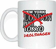 JOllify DROLSHAGEN Kaffeetasse Tasse Becher Mug M2186 - Farbe: weiss - Design 3: Graffiti Streetart New York