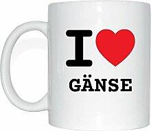 JOllify GÄNSE Kaffeetasse Tasse Becher Mug M6287