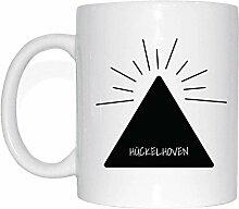 JOllify HÜCKELHOVEN Kaffeetasse Tasse Becher Mug M1205 - Farbe: weiss - Design 11: Hipper Hipster