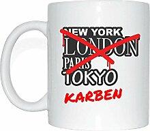 JOllify KARBEN Kaffeetasse Tasse Becher Mug M1527 - Farbe: weiss - Design 3: Graffiti Streetart New York