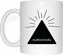 JOllify NEUBRANDENBURG Kaffeetasse Tasse Becher Mug M1055 - Farbe: weiss - Design 11: Hipper Hipster