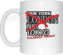 JOllify SULZBACH TAUNUS Kaffeetasse Tasse Becher Mug M2672 - Farbe: weiss - Design 3: Graffiti Streetart New York