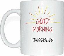 JOllify TROSSINGEN Kaffeetasse Tasse Becher Mug M1881 - Farbe: weiss - Design 7: Good Morning - Guten Morgen
