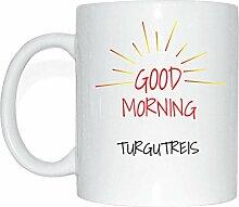 JOllify TURGUTREIS Kaffeetasse Tasse Becher Mug M3240 - Farbe: weiss - Design 7: Good Morning - Guten Morgen